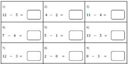 math worksheet : subtraction facts worksheets : Horizontal Subtraction Worksheets
