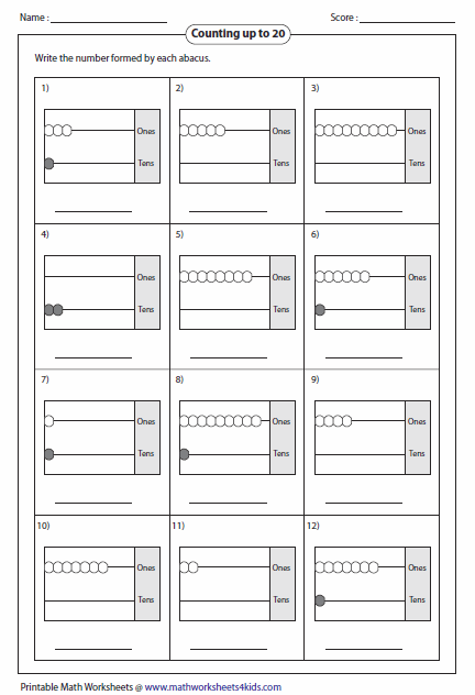 Worksheets Abacus Math Worksheets reading abacus worksheets