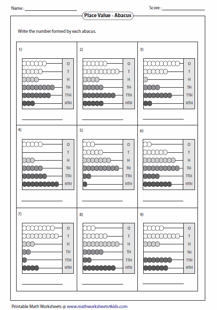 Worksheets Abacus Worksheets reading abacus worksheets