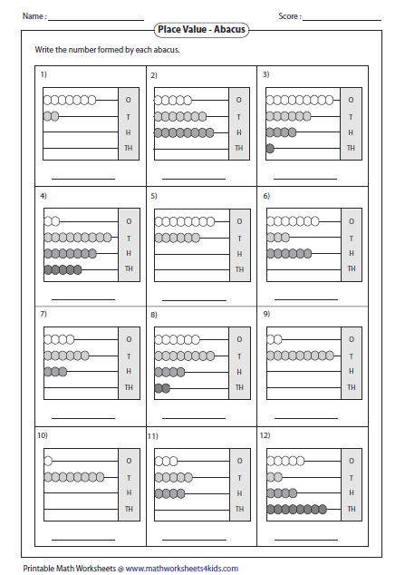Printables Abacus Worksheets reading abacus worksheets level 1