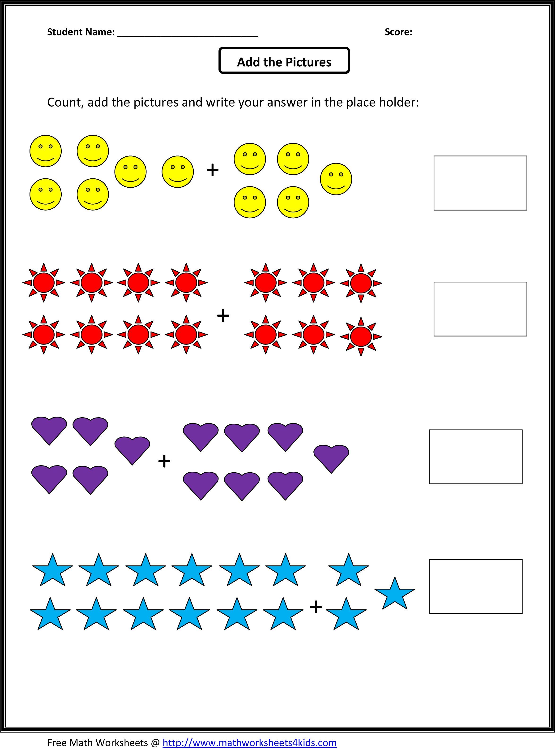 First Grade Worksheets Math Free Printable 1st Grade Math – First Grade Addition Worksheets Free