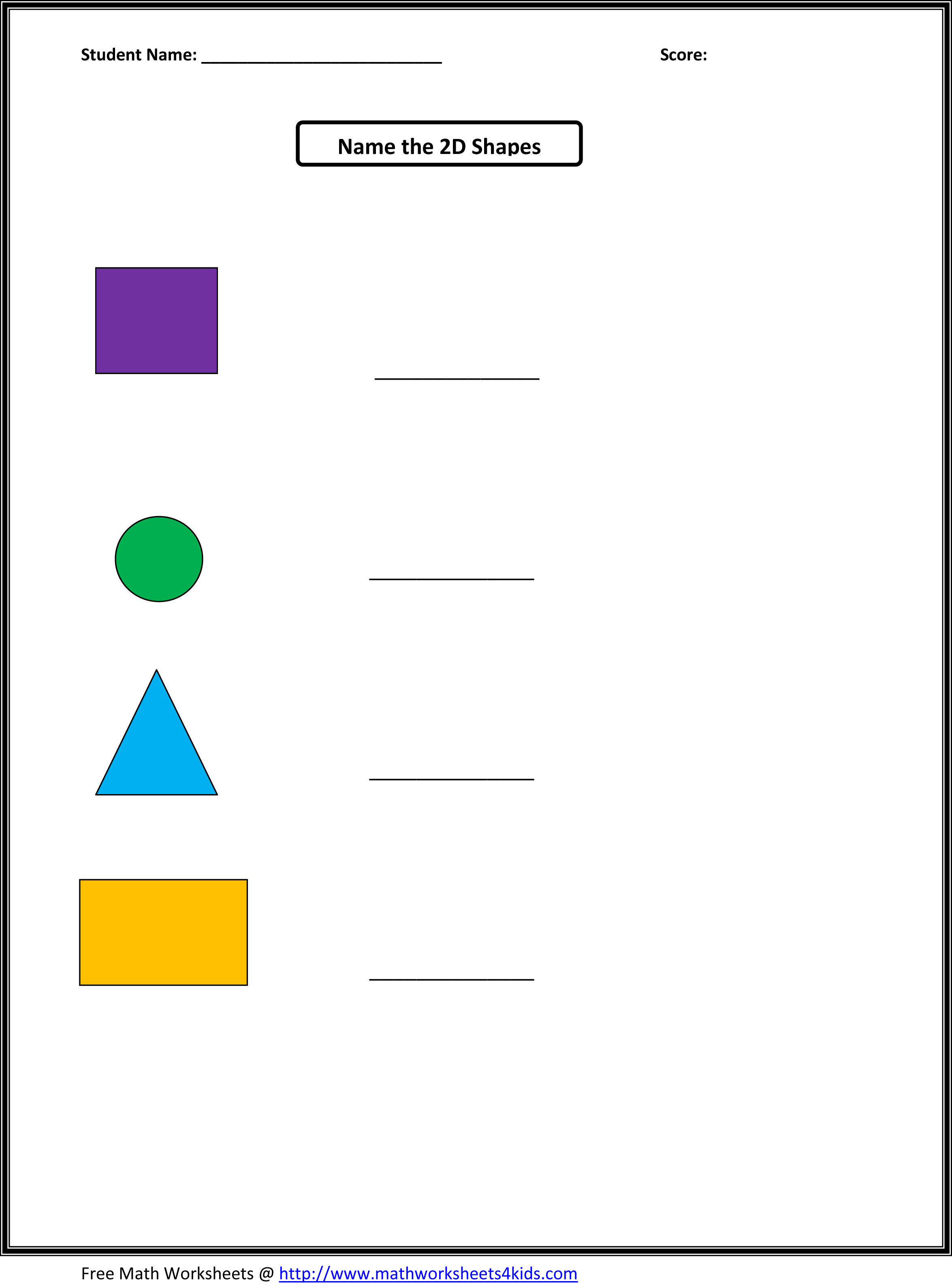 2D And 3D Shapes Worksheet – Maths Shapes Worksheets