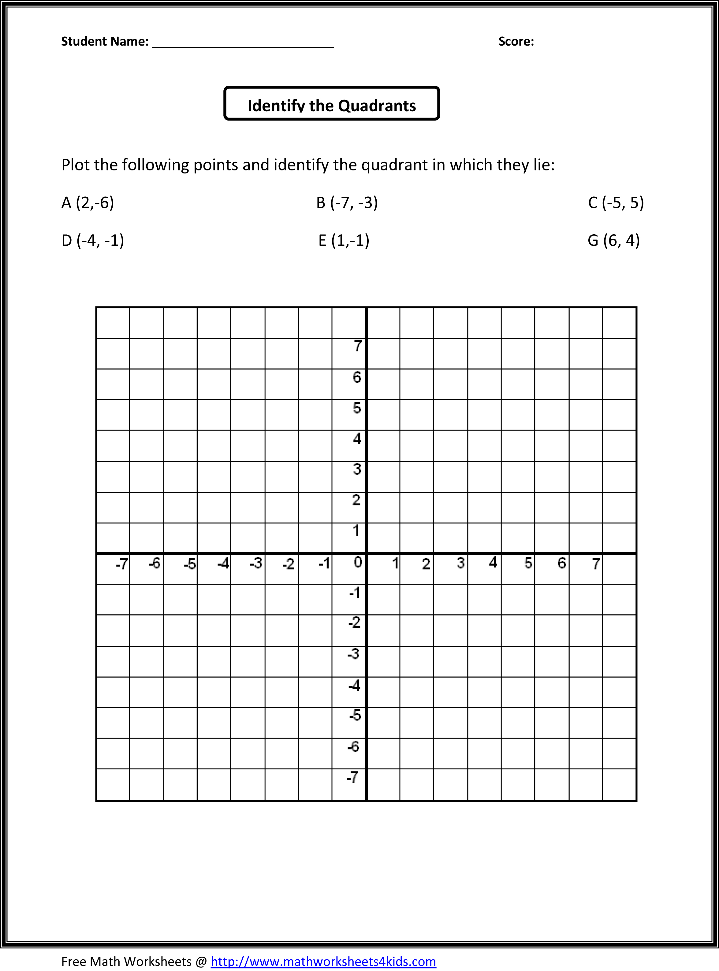 Coordinate System Worksheets 5th Gradehtml Coordinate System – Translation Math Worksheets