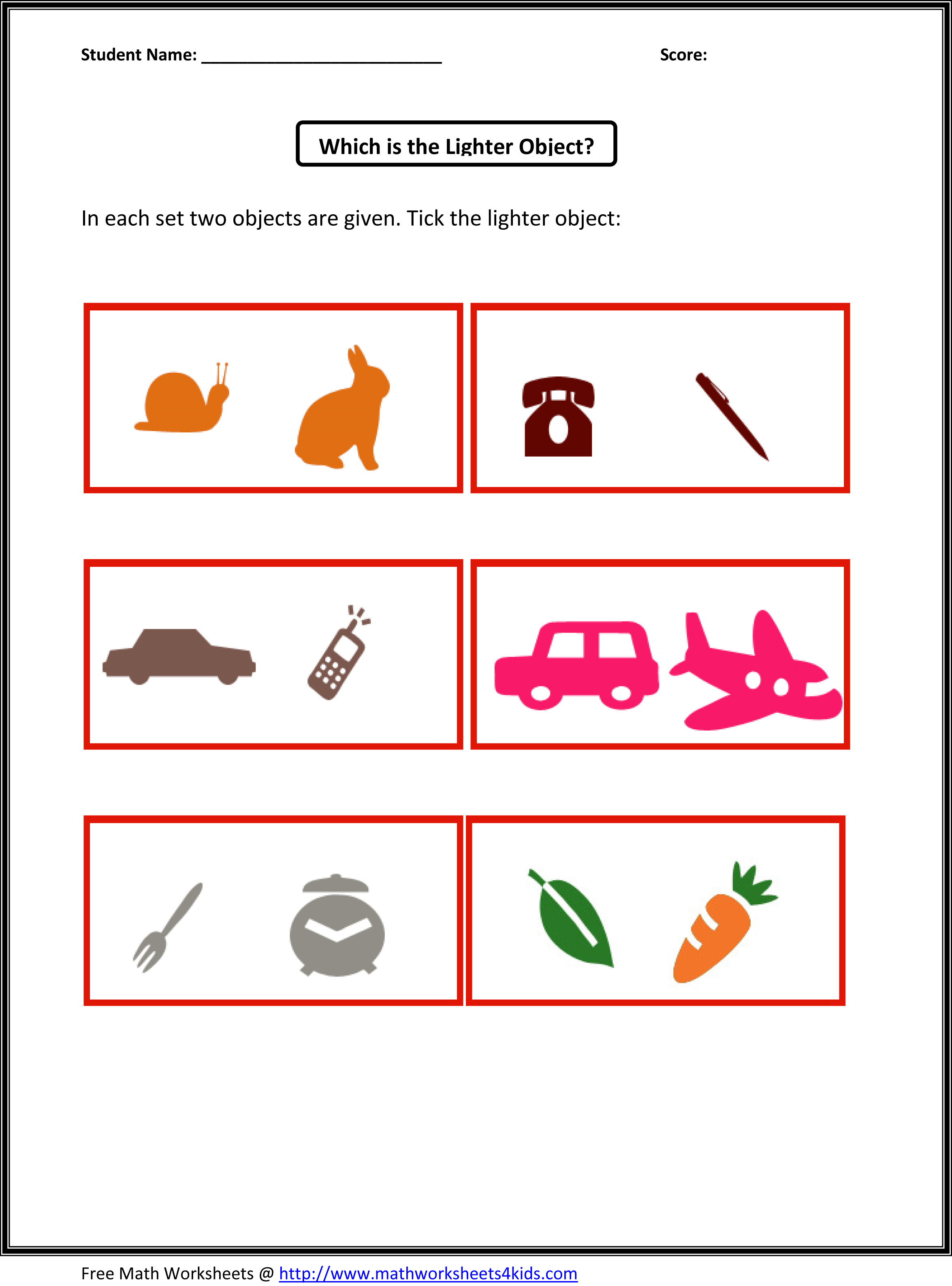 worksheet Light Worksheet nbs preschool identify the light object