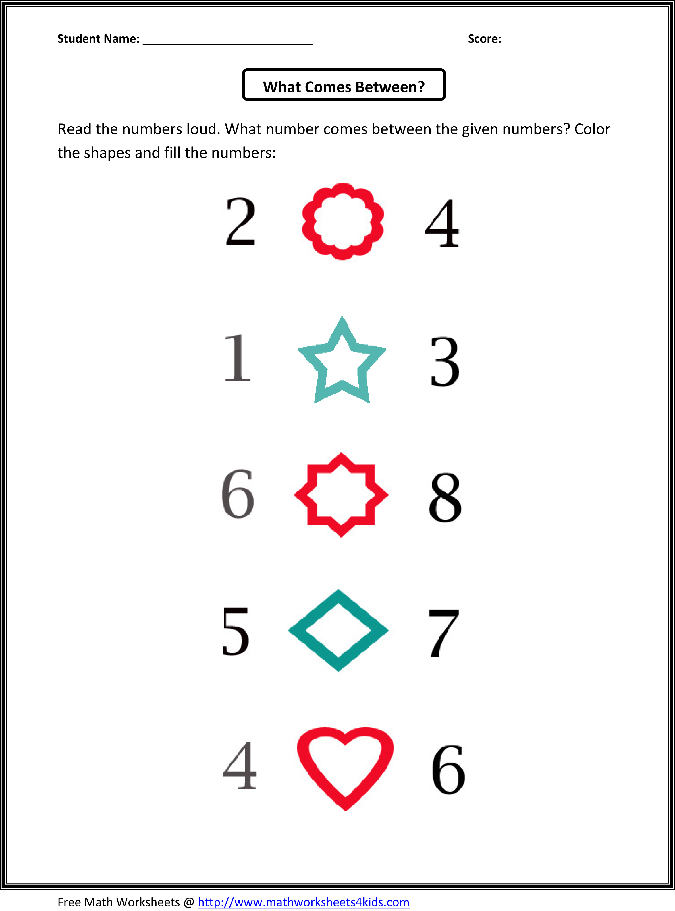 Number Patterns - WorksheetWorks.com