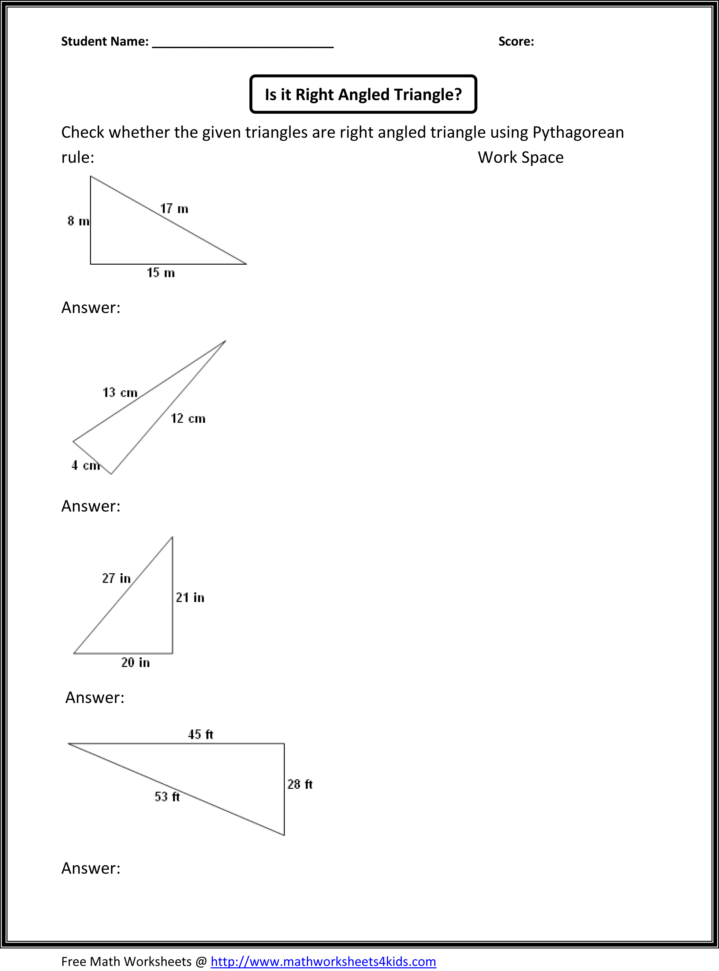 Free Worksheet Geometry 7th Grade Worksheets gr 8 math worksheets 8th grade pre algebra colouring pages pythagorean theorem worksheet