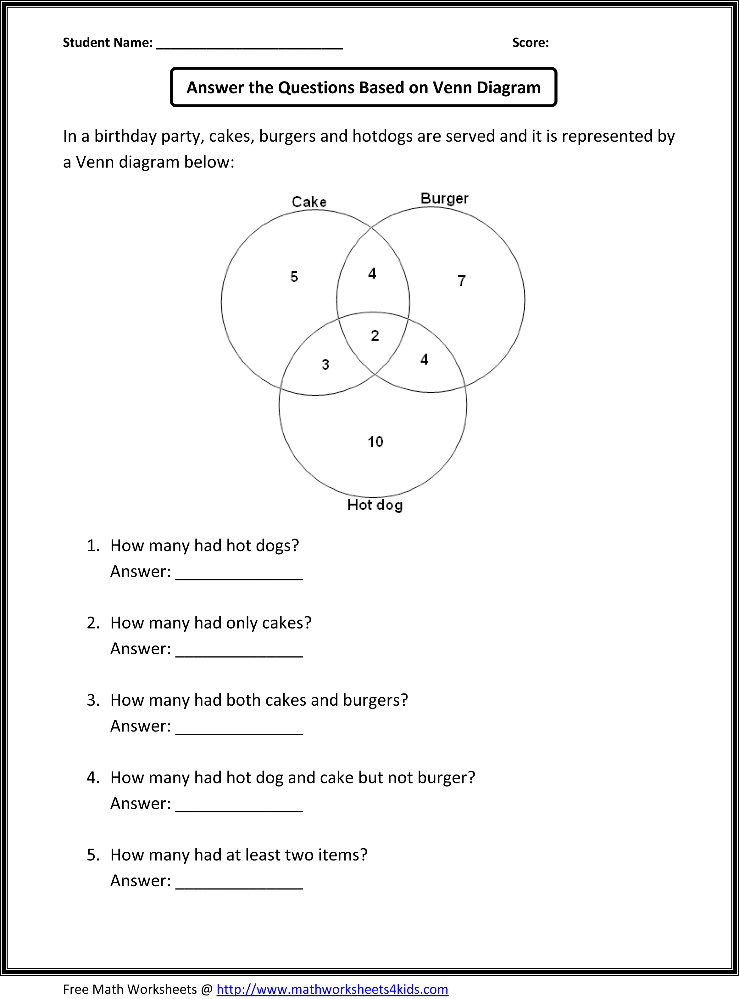 story venn diagram problems nbs-grade 5-6 venn diagram problems to print