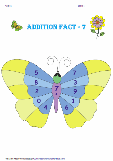 math worksheet : addition facts worksheets : Printable Addition Facts Worksheet
