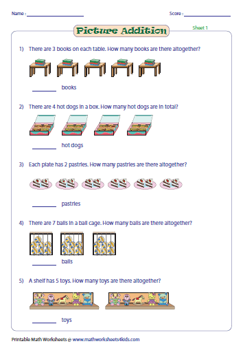 math worksheet : addition with pictures worksheets : Kindergarten Addition Worksheets With Pictures
