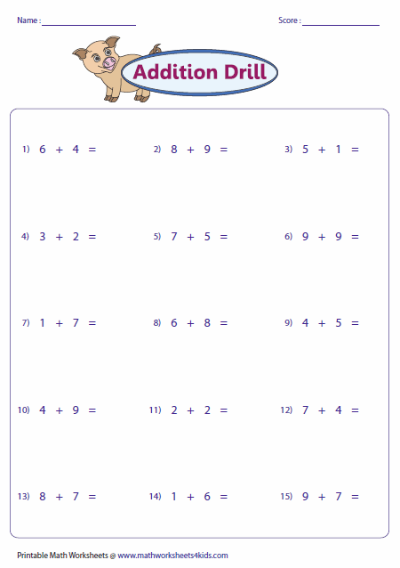 math worksheet : single digit addition worksheets : Horizontal Addition And Subtraction Worksheets