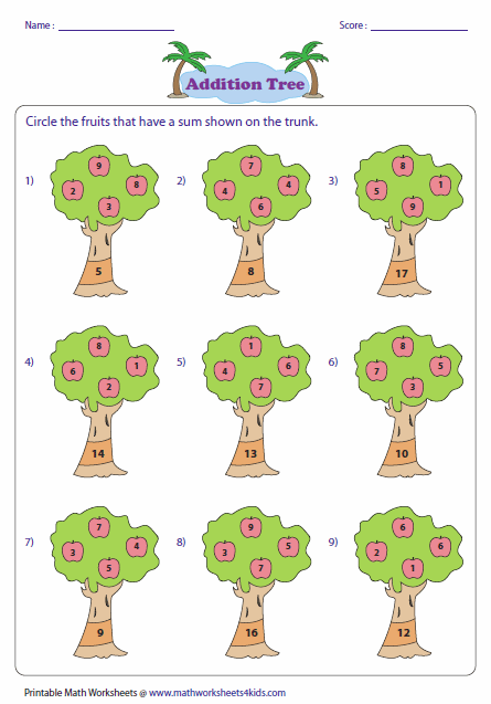 math worksheet : single digit addition worksheets : Single Digit Addition Worksheets