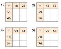 Two-Digit Addition Squares: Type 1
