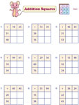 Type 1: Two-Digit Addition Squares