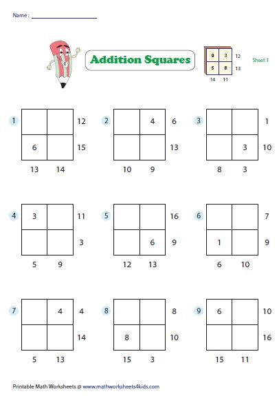 Addition Squares