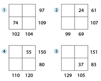 Two-Digit Addition Squares: Type 2