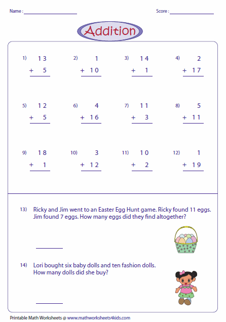 math worksheet : 2 digit addition worksheets : 3 Number Addition Worksheets