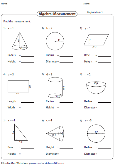 Worksheets Variable Worksheets evaluating algebraic expression worksheets expressions using shapes