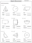 Evaluating Expressions Using Shapes