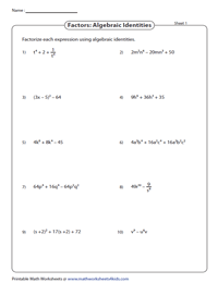 Algebraic Identities: Substitution Method