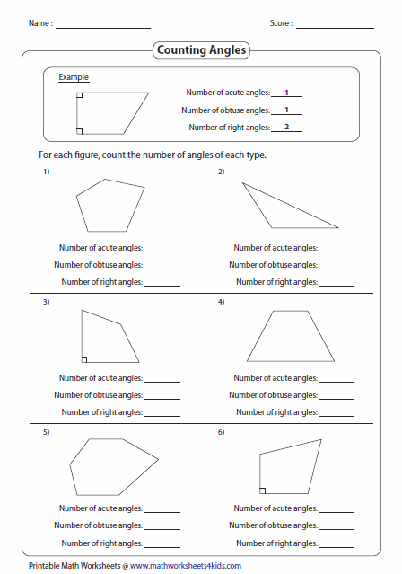 Worksheets Acute Obtuse And Right Angles Worksheets classifying and identifying angles worksheets counting angles