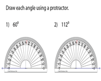 Drawing Angles with a Protractor | 1-Degree Increment