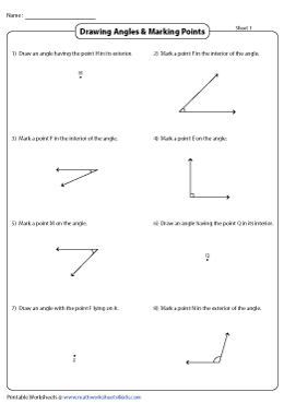 Drawing Angles and Marking Points