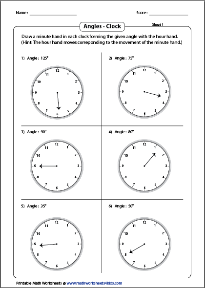 Printables Protractor Worksheet measuring angles and protractor worksheets drawing minute hands