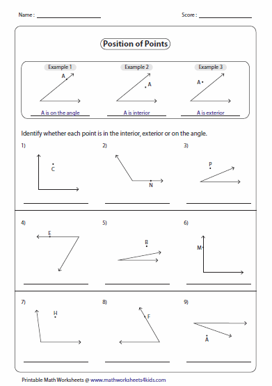 mathworksheets4kids triangle interior angles answers identifying parts and naming angles. Black Bedroom Furniture Sets. Home Design Ideas