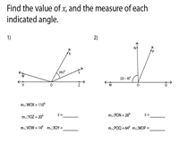 Find the Value of x and the Unknown Angle