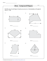 Area of Compound Shapes | Adding regions - Level 1