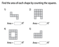 Area of rectilinear shapes - Level 1
