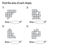 Area of rectilinear shapes - Level 2