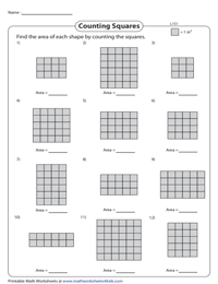 Area of rectangle by counting unit squares - Level 1