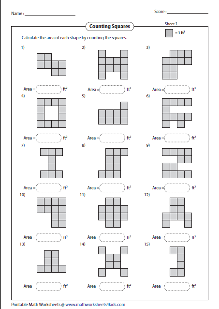 math worksheet : area worksheets : Area Of A Rectangle Worksheet