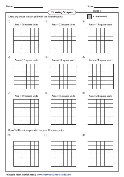 math worksheet : area worksheets : Area Worksheets 4th Grade