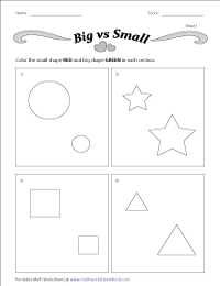 Big And Small Worksheets - 45+ Kindergarten Practice Worksheets Images