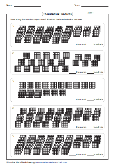 Base Ten Blocks Worksheets – Place Value Blocks Worksheets