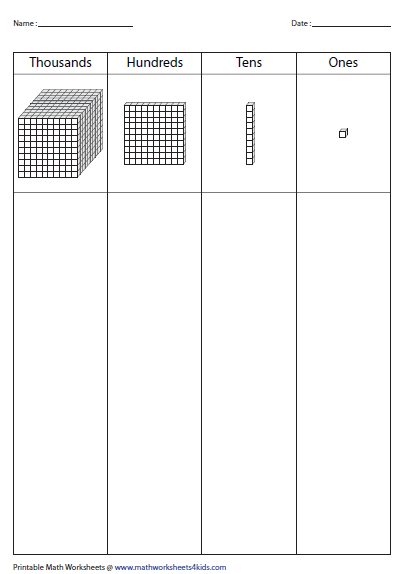 Free Worksheets place value review worksheet 2nd grade : Base Ten Blocks Worksheets