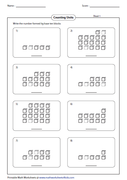 Place Value Worksheets place value worksheets to ten thousands : Base Ten Blocks Worksheets
