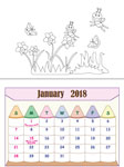 Color the calendar themes