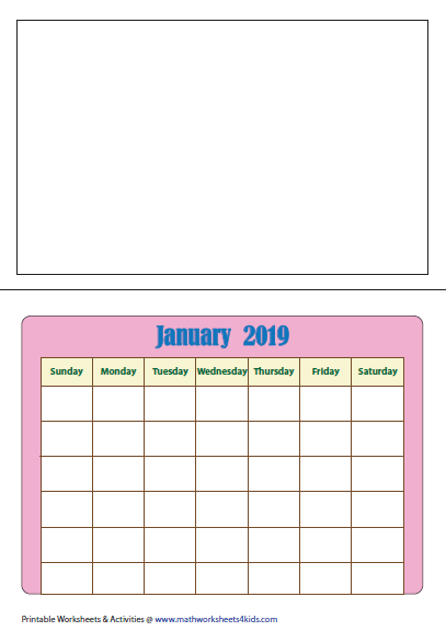 calendar worksheets draw and complete the calendar