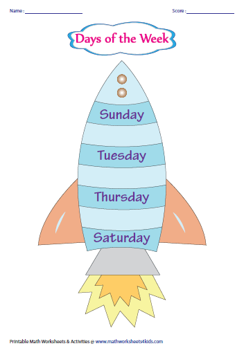 picture regarding Printable Days of the Week Chart identify Times, Weeks and Seasons: Charts and Worksheets