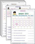 Printables Free Calendar Worksheets calendar worksheets reading calendars worksheets