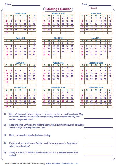 Calendar Activities For First Grade : Calendar math worksheets for nd grade time