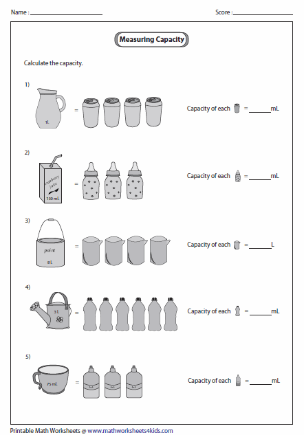 math worksheet : capacity worksheets : Measurement Worksheet For Kindergarten