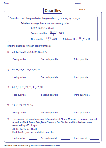 Worksheets Mode Worksheets mean median mode and range worksheets finding quartiles worksheets
