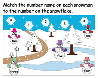 Christmas Number Names | Matching