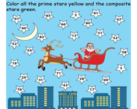 Christmas Prime and Composite Worksheet