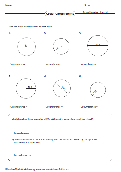math worksheet : circumference and area of circle worksheets : Area And Circumference Of A Circle Worksheet