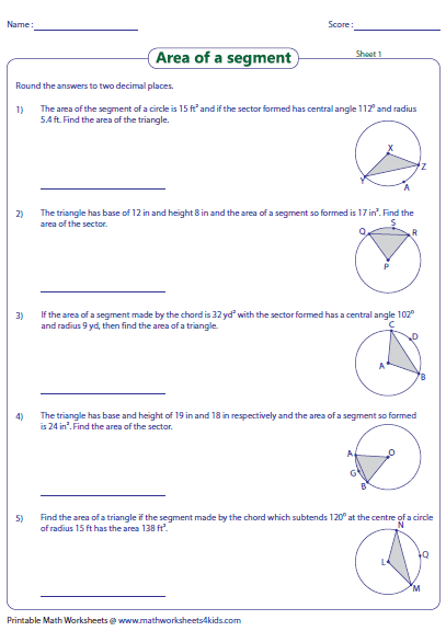 arc length sector area worksheet the best and most comprehensive worksheets. Black Bedroom Furniture Sets. Home Design Ideas